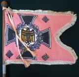 WWII GERMAN PANZER BATTALION SWALLOWTAIL DESK FLAG