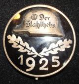 "1925 ""STAHLHELM"" MEMBER'S COMMEMORATIVE BADGE"