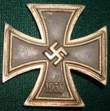 WWII GERMAN IRON CROSS 1st CLASS BRASS CORE