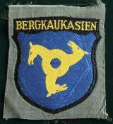 WWII GERMAN BERGKAUKASIEN VOLUNTEER'S SLEEVE SHI