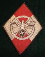 WWII GERMAN  NSKK SLEEVE DIAMOND INSIGNIA FOR FORM