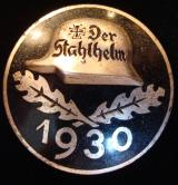 "1930 ""STAHLHELM"" MEMBER'S COMMEMORATIVE BADGE"
