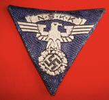 WWII GERMAN NSKK FIRST PATTERN CAP EAGLE