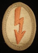 WWII GERMAN TROPICAL LIGHT BROWN SIGNAL BLITZ
