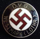 WWII GERMAN D.V.G. WESTMARK LAPEL PIN