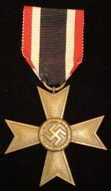 WWII GERMAN WAR MERIT CROSS 2ND CLASS WITHOUT SWOR