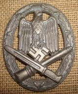 WWII GERMAN GENERAL ASSAULT BADGE missing hardware