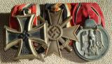 WWII GERMAN THREE PLACE MEDAL BAR