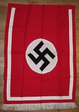WWII GERMAN PODIUM BANNER WITH FRINGE