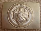 WWII GERMAN HJ MEMBER'S BELT BUCKLE