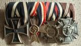 WWII GERMAN FOUR PLACE MEDAL BAR