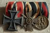 WWII GERMAN THREE PLACE MEDAL BAR ROUND THREE