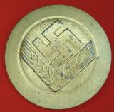 WWII GERMAN RADwJ ARBEITSMAID RANK BROOCH IN GOLD