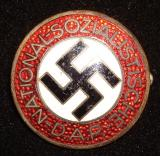 WWII GERMAN NSDAP MEMBERSHIP BADGE M1/63