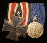 RARE IRON CROSS WITH ROUND THREE