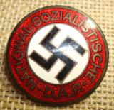 WWII GERMAN NSDAP MEMBERSHIP BADGE GES.GESCH MARKE