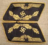 WWII GERMAN DEUTSCHE REICHSBAHN OFFICIAL'S COLLAR