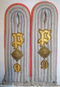 WWII PANZER OBERLEUTNANT SHOULDER BOARDS