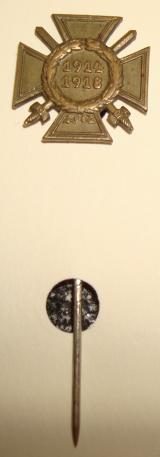 COMBATANTS CROSS OF HONOR 1914/18 STICK PIN
