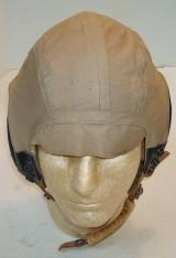 US AAF WW2 PILOT AN-H-15 KHAKI COTTON FLIGHT HELME