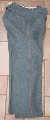 WWII GERMAN PANZER PARADE DRESS TROUSERS