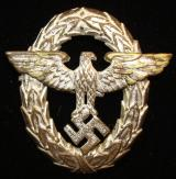 WWII GERMAN POLICE VISOR CAP EAGLE