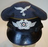 WWII GERMAN FLIGHT NCO'S VISOR CAP