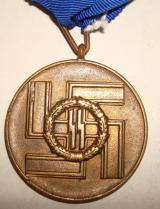SS EIGHT YEAR LONG SERVICE MEDAL TYPE 1