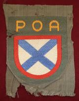 WWII GERMAN RUSSIAN POA VOLUNTEER'S SLEEVE SHIELD