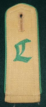 WWII GERMAN HJ LANDJAHR SHOULDER BOARD WITH TAG
