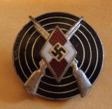 WWII GERMAN HJ MARKSMAN'S BADGE M1/77