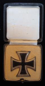 WWII GERMAN IRON CROSS 1st CLASS CASED