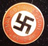 WWII GERMAN NSDAP MEMBERSHIP BADGE M1/72