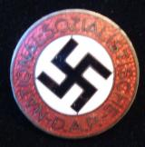 WWII GERMAN NSDAP MEMBERSHIP BADGE M1/78