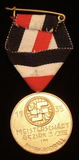 WWII GERMAN CYCLING MEDAL , RARE
