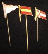 WWII GERMAN FLAG PINS (3)