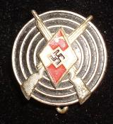 WWII GERMAN HJ MARKSMAN'S BADGE M1/120