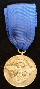 WWII GERMAN POLIZEI EIGHT YEAR LONG SERVICE AWARD