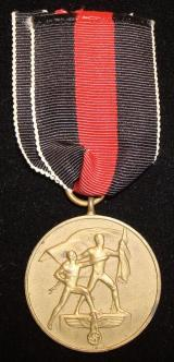 WWII GERMAN COMMEMORATIVE MEDAL OF 1ST OCTOBER 193