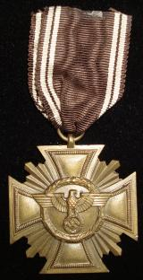 WWII GERMAN NSDAP TEN YEAR LONG SERVICE MEDAL