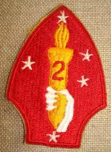 WWII US USMC 2nd DIVISION PATCH