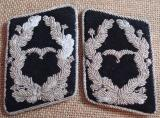 WWII GERMAN LUFTWAFFE AIR MINISTRY/CONSTRUCTION UNIT MAJOR'S COLLAR TABS